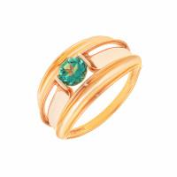 Золотое кольцо с кварцем ДП311625