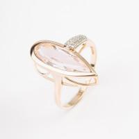 Золотое кольцо с морганитами синтами и фианитами МБ01-1-720-1801-011