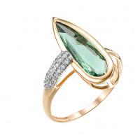 Золотое кольцо с турмалинами и фианитами МБ01-1-720-1901-011