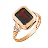 Золотое кольцо с гранатами и топазами МБ01-2-440-2100-011