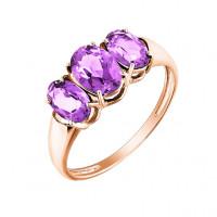 Золотое кольцо с аметистами МБ01-2-443-0200-010