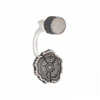 Серебряные серьги полупара ИЬ9255201 без вставок камней