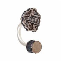 Серебряные серьги полупара ИЬ9245210 без вставок камней