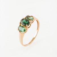 Золотое кольцо с турмалинами синтами МБ01-2-443-1900-010