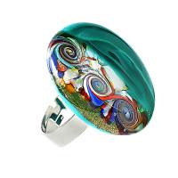 Бижутерное кольцо с муранами ЮЯ71447