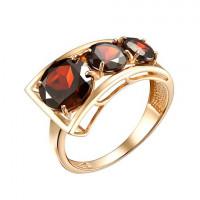 Золотое кольцо с гранатами МБ01-1-416-0300-010