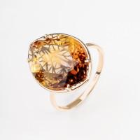 Золотое кольцо с аметринами синтами МБ01-2-189-1700-010