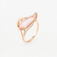 Золотое кольцо с морганитами синтами и фианитами МБ01-1-629-1801-011