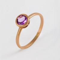 Золотое кольцо с аметистами МБ01-1-677-0200-010