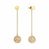 Золотые серьги гвоздики с цирконами РВБИХE0027-02