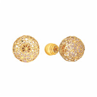 Золотые серьги гвоздики с цирконами РВБИХЕ0031-02цр