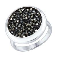 Серебряное кольцо с кристаллами swarovski ДИ94012428