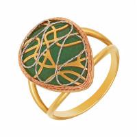 Золотое кольцо с халцедоном РВПA6478хц