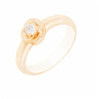 Золотое кольцо с бриллиантом МЭК24009