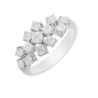 Кольцо из белого золота с бриллиантами МЭК73144