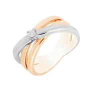 Золотое кольцо с бриллиантом МЭК73735
