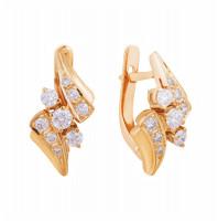Золотые серьги с бриллиантами МЭС09355