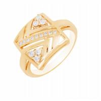 Золотое кольцо с бриллиантами МЭК73790