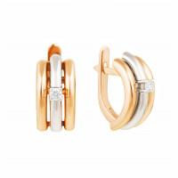 Золотые серьги с бриллиантами МЭС74319