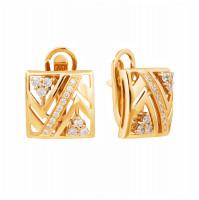 Золотые серьги с бриллиантами МЭС74382