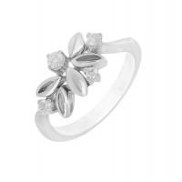 Кольцо из белого золота с бриллиантами МЭК73747