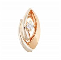 Золотая подвеска с бриллиантом МЭП09559
