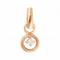 Золотая подвеска с бриллиантом МЭП09561