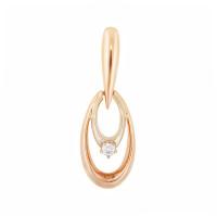 Золотая подвеска с бриллиантом МЭП09564