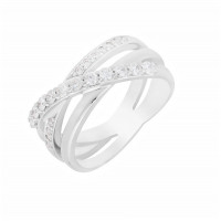 Кольцо из белого золота с бриллиантами МЭК73227