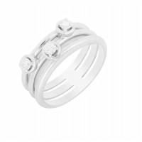 Золотое кольцо с бриллиантами МЭК73744