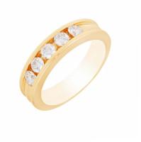 Золотое кольцо с бриллиантами МЭК43138