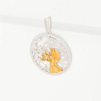 Серебряный знак зодиака с фианитами «весы» ЮХПЗ04