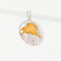 Серебряный знак зодиака «овен» ЮХПЗ201