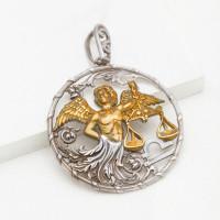 Серебряный знак зодиака «весы» ЮХПЗ204