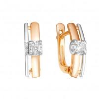 Золотые серьги с бриллиантами ЛХ02-01095-01-001-01-01