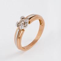 Золотое кольцо с бриллиантом ЛХ01-01091-02-001-01-01