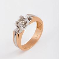 Золотое кольцо с бриллиантом ЛХ01-01090-02-001-01-01