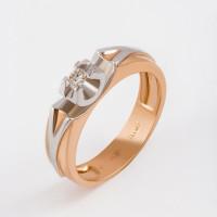 Золотое кольцо с бриллиантом ЛХ01-01377-02-001-01-01