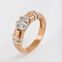 Золотое кольцо с бриллиантом ЛХ01-01401-02-001-01-01