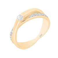 Золотое кольцо с бриллиантами ХС050078421