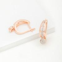 Золотые серьги подвесные с бриллиантами ХС051062821