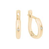 Золотые серьги с бриллиантами ЗСС14010001