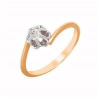 Золотое кольцо с бриллиантом ХС050098521