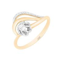 Золотое кольцо с бриллиантами ХС050099421