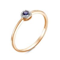 Золотое кольцо с сапфиром ЛХ01-01296-01-002-01-02