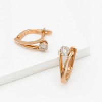 Золотые серьги с бриллиантами ХС051085121