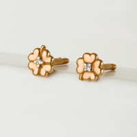Золотые серьги гвоздики с фианитами 3ВС132-985