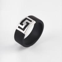 Серебряное кольцо с каучуком НРСР03451Ш