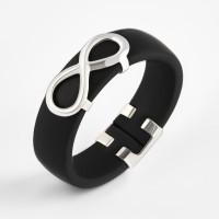 Серебряное кольцо с каучуком НРСР03511К