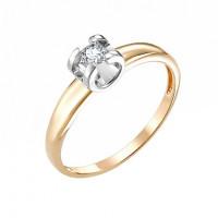 Золотое кольцо с бриллиантом ИМК0124-120